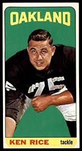 Amazon.com: 1965 Topps # 148 Ken Rice Oakland Raiders (Football Card) VG/EX  Raiders Auburn: Collectibles & Fine Art