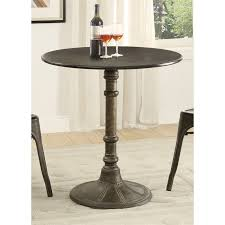 coaster oswego round dining table in distressed black