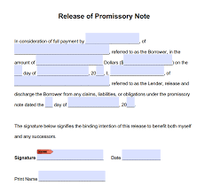 Promissory Note Templates Word Promissory Note Release Form Adobe Pdf Microsoft Word