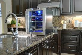 newair countertop wine cooler in kitchen