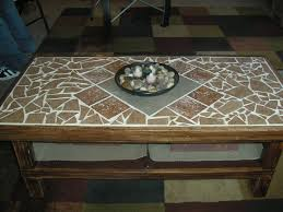 stunning tile top coffee table tile top coffee table at hongdahs new home design