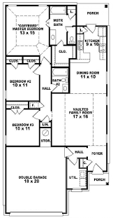 3 bedroom house plans one story lovely 1 story house plans with 4 bedrooms single story
