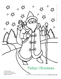 Father Christmas Coloring Page More Coloring