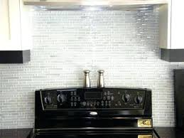 Kitchen With Glass Tile Backsplash Beauteous White Glass Backsplash Kitchen Lsonline