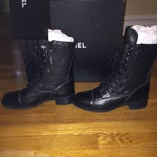 chanel quilted boots. chanel shoes - chanel quilted leather combat boots