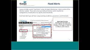 Kaseya Support TechJam: Classic Monitor ...