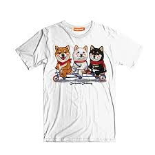 Caramel <b>Clothing Shiba Inu</b> Bicycle Unisex Short Sleeves Crew ...