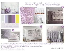 Lavender and Purple Nursery Bedding