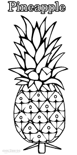 Small Picture Printable Pineapple Coloring Pages For Kids Cool2bKids