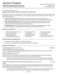 Teacher Skills Resume Free Resume Templates 2018
