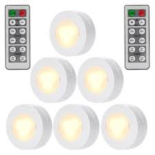 Bazz Led Puck Lights Set Of 6 Wireless Led Puck Lights Remote Control Dimmable