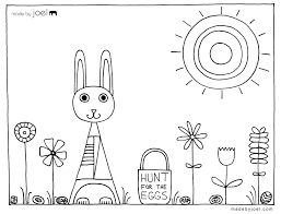 Made By Joel Easter Coloring Sheet