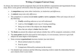 compare contrast essay picture