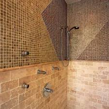 Shower Wall Tile A Waved Effect On These Shower Walls Create A