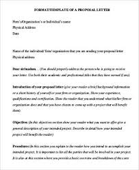 40 Proposal Letters In Pdf Sample Templates