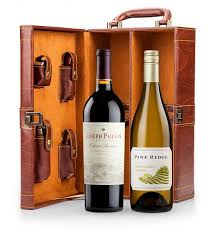 fine wine tote with your choice of wine wine gifts a leather wine tote with intricate detailing sy wine accessories and your choice of premium wine
