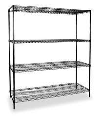 shelving starter h 74 w 48 d 24 black zoro select