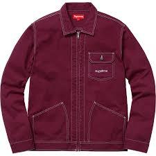 Light Jacket For Work Contrast Stitch Work Jacket Light Burgundy