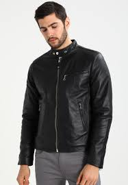 schott nyc leather jacket men clothing jackets black