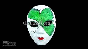 Mask Decoration Ideas High Quality Paper Pulp Full Face Handmade Masquerade Mask 34