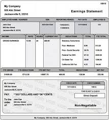 paycheck stub creator real paycheck stubs home