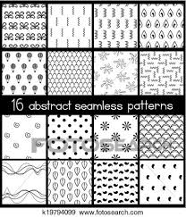 Simple Patterns Best Clip Art Of Black And White Simple Patterns K48 Search