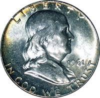 1961 Half Dollar Value Chart 1961 D Ben Franklin Half Dollar Value Cointrackers