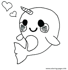 Baby Coloring Pages Penguin Coloring Pages Cute Baby Narwhal Page