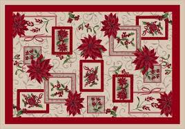 milliken winter bouquet holiday area rug 5 4
