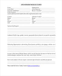 9+ Sample Sponsorship Request Forms | Sample Templates