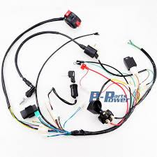 full electrics wiring harness coil cdi assembly cc atv full electrics wiring harness coil cdi assembly 50 70 110cc atv quad bike buggy