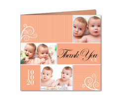 Baby Thankyou Twin Thank You Cards Planet Cards Co Uk