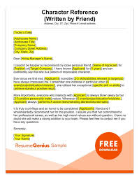 Personal Reference Sample Letter Of Recommendation Samples Templates For Employment Rg