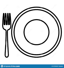 Fork Design Plate And Fork Design Stock Vector Illustration Of