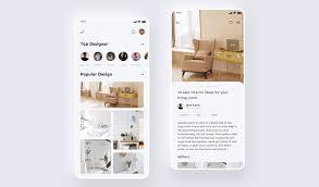 interior design mobile app psdhero