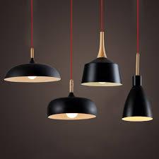 Rustic Wood Light Fixtures Us 41 0 Modern Pendant Light Nordic Style Suspension Luminaire Hanging Lamp Vintage Pendant Lamp Rustic Wood Light Aluminium Lampshade In Pendant