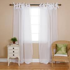 get quotations best home fashion sheer voile curtains tie top white 56 w x