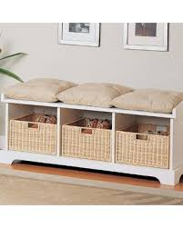 shoe furniture. white wood storage shoe bench seat settee furniture with basket