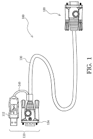 patent us7281067 kvm switch cable for ps 2 and usb signaling patent drawing
