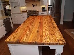 reclaimed pine island wood countertop in waxhaw nc farmhouse kitchen charlotte