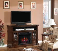 Living Room Media Cabinet Electric Fireplace Media Console Living Room Traditional With