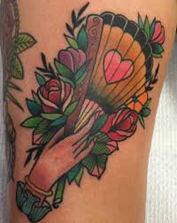 hand fan tattoo. fan tattoo - tilly dee, qld hand d