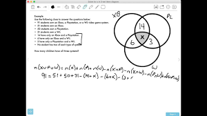 Three Set Venn Diagram Problems How Do You Solve For The Middle Value In A 3 Set Venn