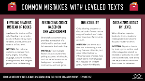 What Are The Best Ways To Use Leveled Texts Cult Of Pedagogy