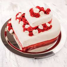 Cakes Heart Shape Two Tier Cake Gift Across India