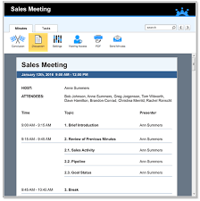 Templates For Meeting Agenda Sales Meeting Agenda Templates