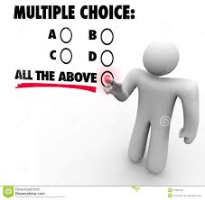 multiple test multiple choice all the above options test quiz uncertainty gues