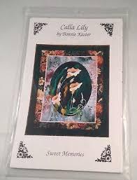 nip appliqué quilt pattern wildflowers calla lily b kaster sweet memories uc
