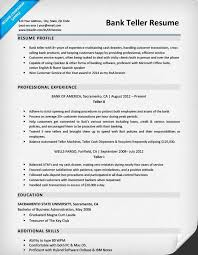 Banking Resume Sample Musiccityspiritsandcocktail Com