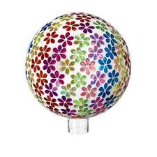bright s mosaic fl gazing ball